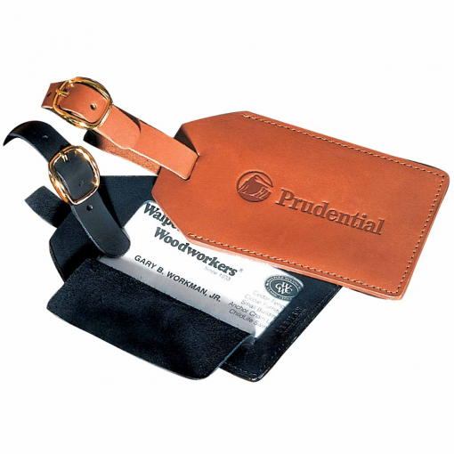 Grand Central Luggage Tag (Sueded Full-Grain Leather)
