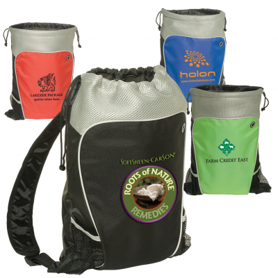 Hiker's Two-Tone Drawstring Backpack