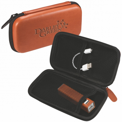 Tuscany™ Tech Case & Power Bank Gift Set