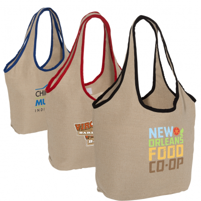 Soft Touch Juco Shopper Bag