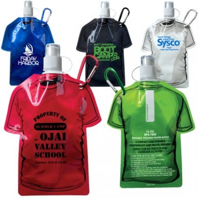 16 Oz. T-Shirt Shaped Collapsible Water Bottle