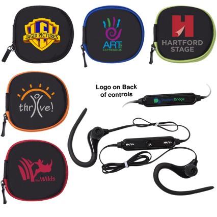 Sport Bluetooth® Earbuds in Zipper Case