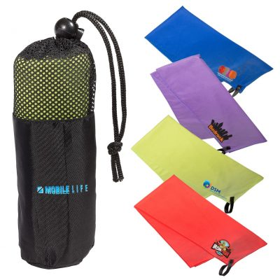 Microfiber Quick Dry & Cooling Towel in Mesh Pouch