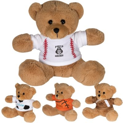 "7"" GameTime® Plush Bear with T-Shirt"