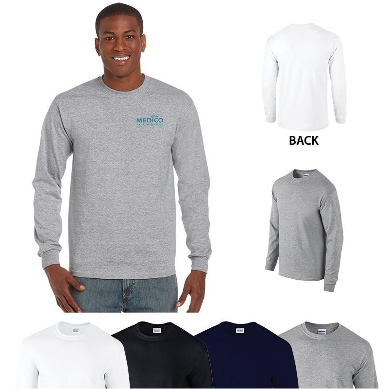 2dd1148f767be Gildan® Ultra Cotton® Classic Fit Adult Long Sleeve T-Shirt – 6 oz ...