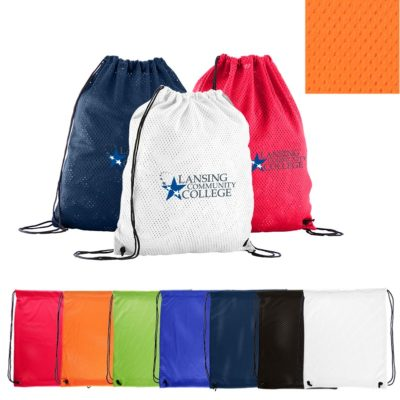 Sports Jersey Mesh Drawstring Backpack
