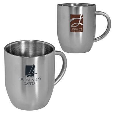 12 Oz. Double-Wall Stainless Coffee Mug