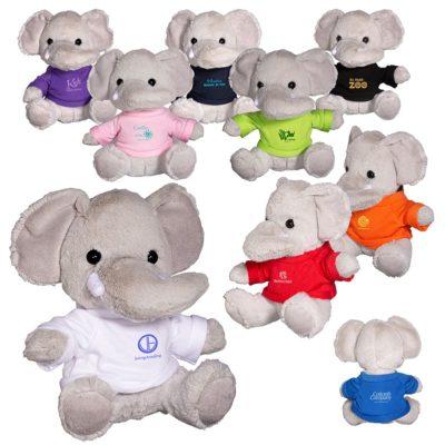 "7"" Plush Elephant Stuffed Animal"