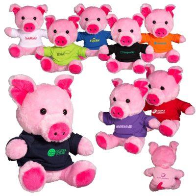 "7"" Plush Pig Stuffed Animal"