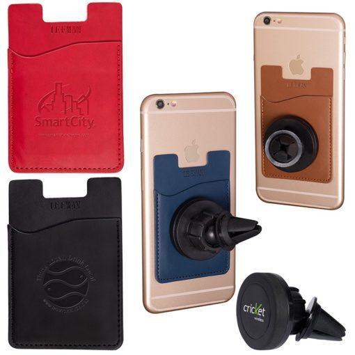 Tuscany™ Magnetic Auto Phone Holder w/Pocket