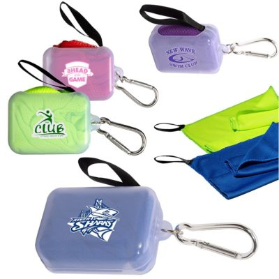 Cooling Towel in Carabiner Case