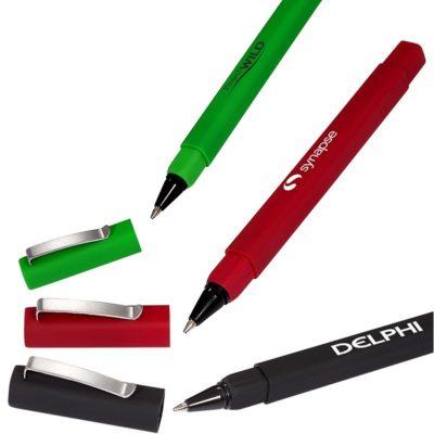 Rubberized Square Pen