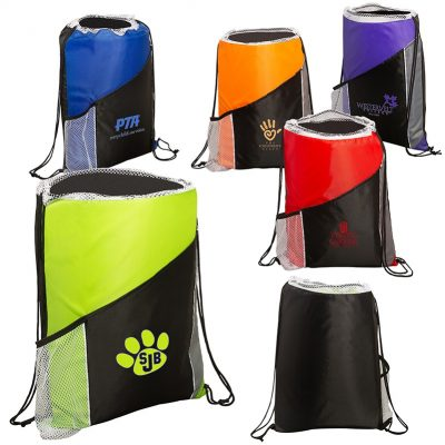 Sprint Angled Drawstring Sports Pack w/Pockets