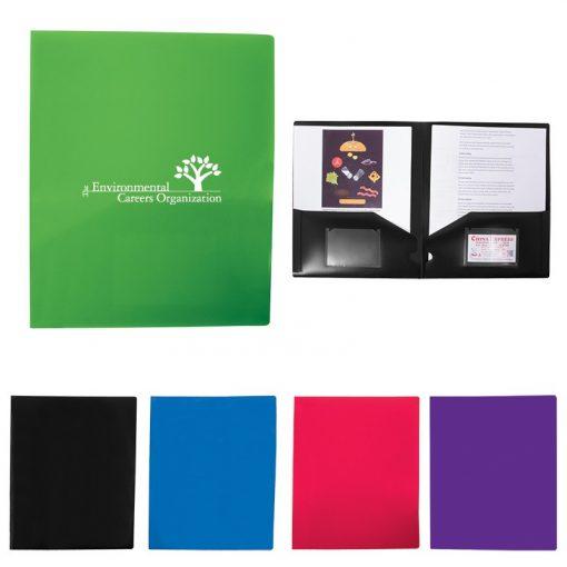 2-Pocket Folder w/Business Card Slots