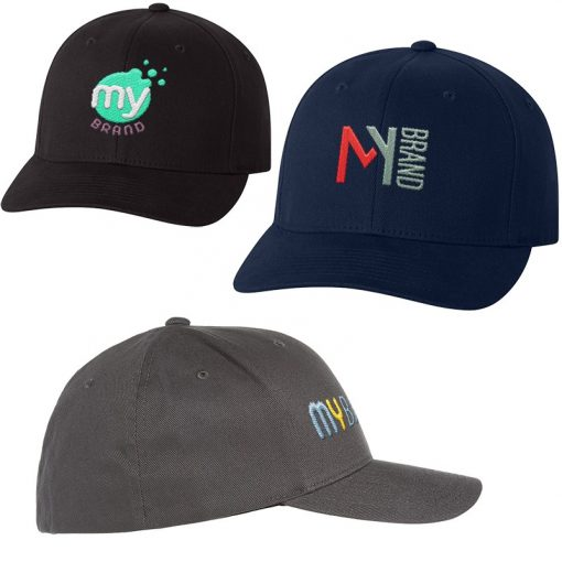 Adult Flexfit® Brushed Twill Fitted Cap