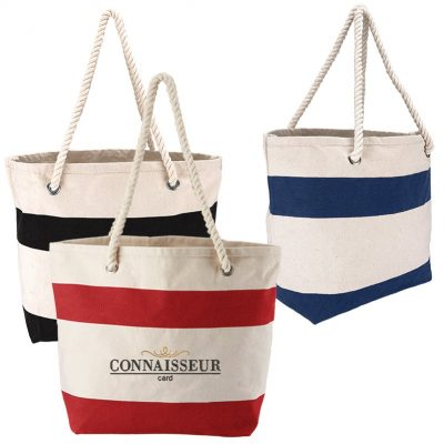 Cotton Resort Tote w/Rope Handle