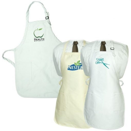 Gourmet Apron w/Pockets (Natural & White)