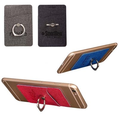Leeman™ RFID Phone Pocket w/Metal Ring Phone Stand