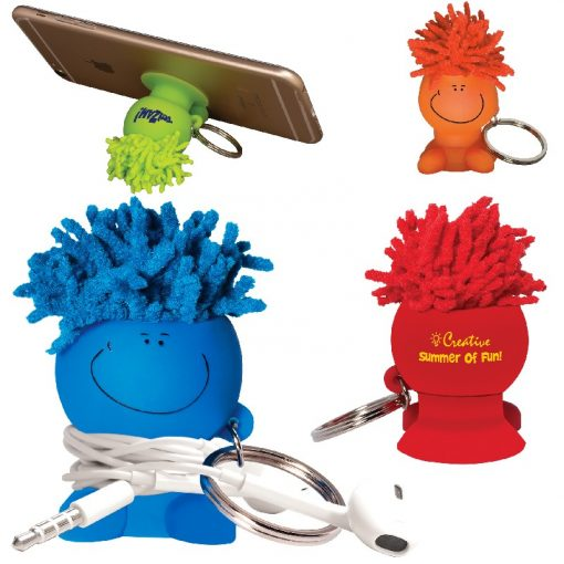MopToppers® Mobile Stand Cord Winder Key Chain