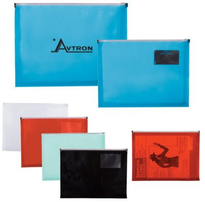 PP Zip Closure Envelope w/Business Card Slot