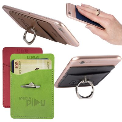 Tuscany™ Card Holder w/Metal Ring Phone Stand