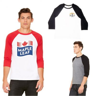 Unisex Bella+Canvas® ¾ Sleeve Baseball Tee Shirt