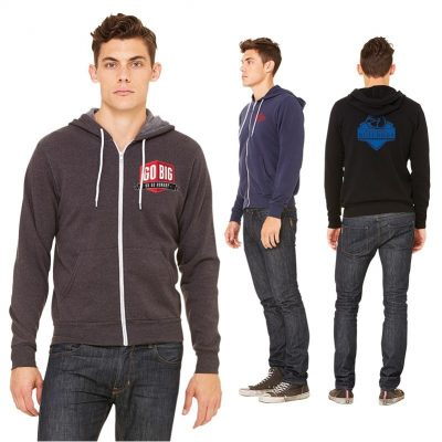 Unisex Bella+Canvas® Sponge Fleece Full Zip Hoodie