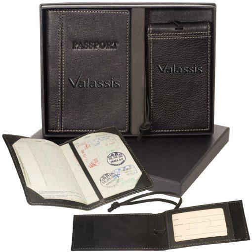 Voyager™ Lloyd Harbor Passport & Magnetic Luggage Tag Set