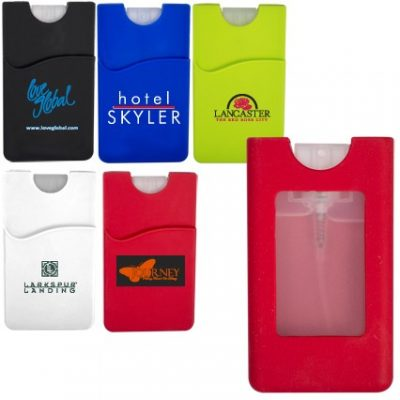 0.67 Oz. Silicone Wallet Sleeve w/Sanitizer