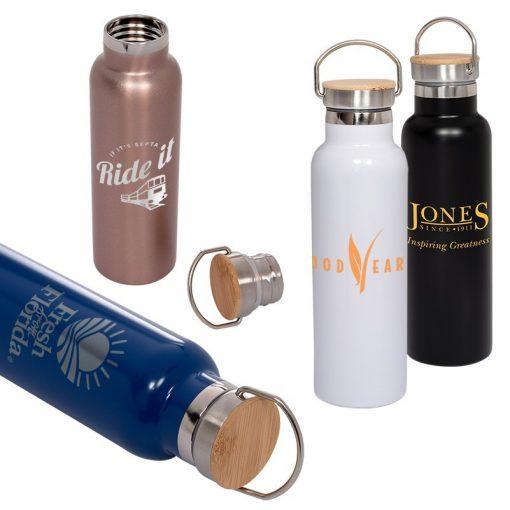 20 Oz. Vacuum Bottle w/Bamboo Lid