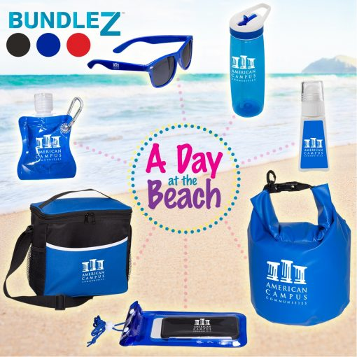 A Day At The Beach Bundle Set w/Dry Bag & Cooler