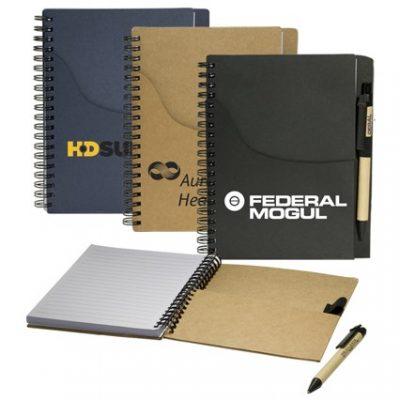 Eco Handy Notebook w/Pocket/Pen Combo