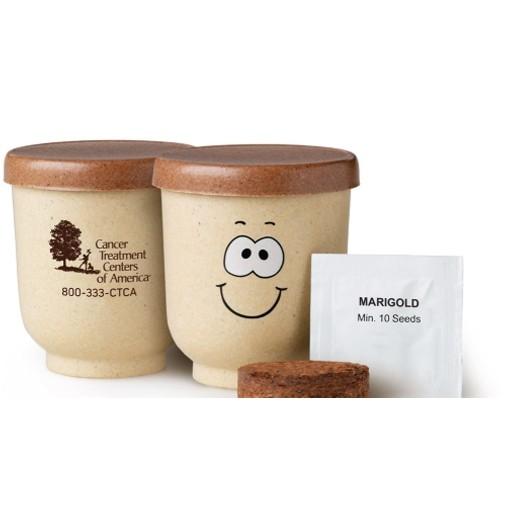 Goofy Group™ Grow Pot Eco-Planter w/Marigold Seeds