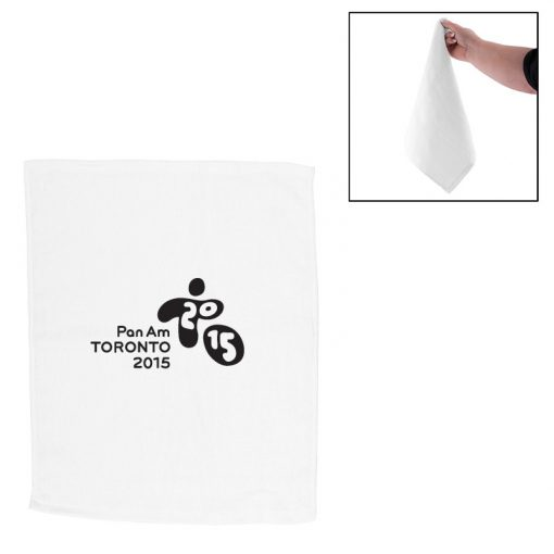 "Hemmed Cotton Rally Towel (15""x18"")"