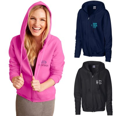 Ladies Gildan® Heavy Blend™ Full Zip Hooded Sweatshirt