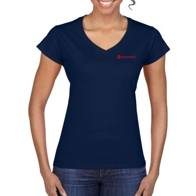 Ladies Gildan® Softstyle® V-Neck T-Shirt