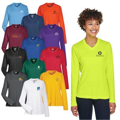 Ladies' Team 365® Zone Performance Long Sleeve T-Shirt