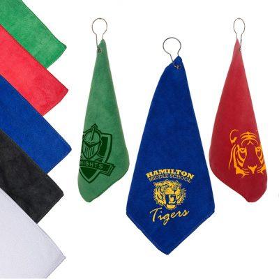 Microfiber Golf Towel w/Grommet & Hook