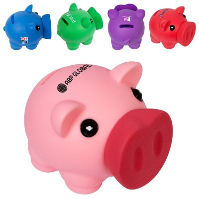 Piggy Coin Bank Solid Colors