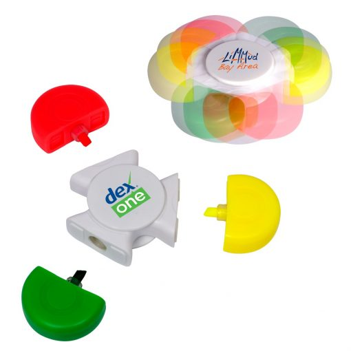 PromoSpinner® Fidget Toy - Tri-Highlighter