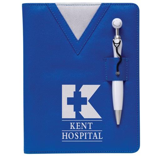 Swanky™ Scrubs Junior Writing Pad w/Stethoscope Pen
