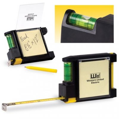 Tape Measure w/Level & Sticky Pad