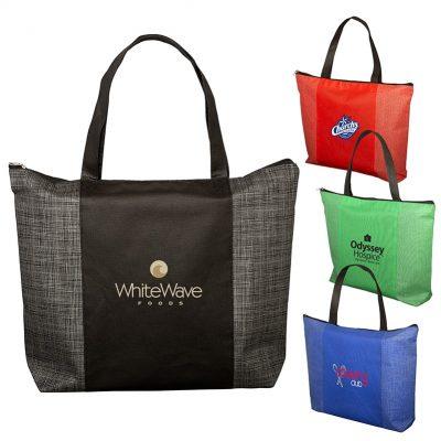 Tonal Non-Woven Zipper Trade Show Tote Bag