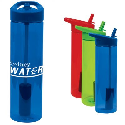 20 Oz. Filter Bottle w/Flip Straw