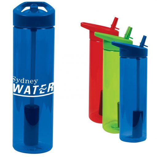 20 Oz. Filter Bottle w/Flip Straw
