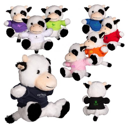 "7"" Plush Cow w/T-Shirt"