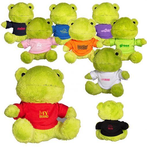 "7"" Plush Frog w/T-Shirt"