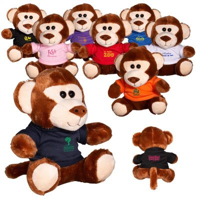 "7"" Plush Monkey w/T-Shirt"
