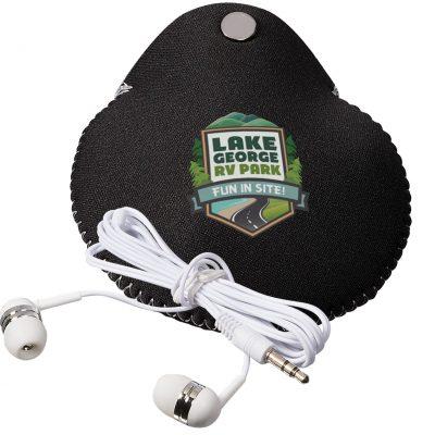 Neoprene Earbud Pouch Combo w/Earbuds