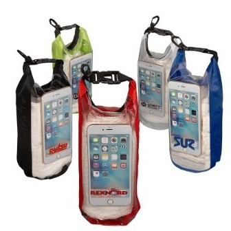 2L Water-Resistant Dry Bag w/Mobile Pocket (Overseas)